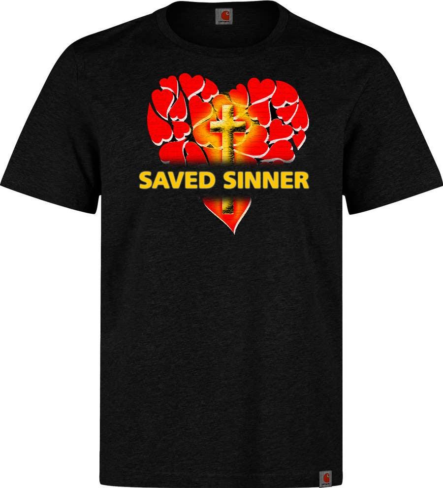 Tshirt design -  8 For Saved Sinner Tshirt Design By Brahmaputra7