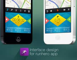 nº 29 pour Need photshop expert to re-design part of user interface (Running App) par tamildio