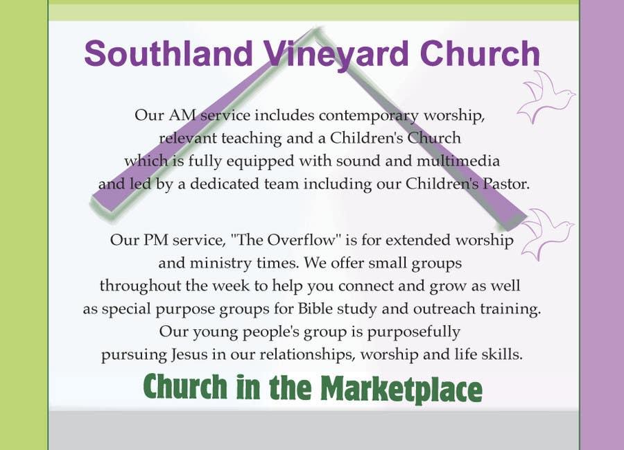 Participación en el concurso Nro.22 para Flyer Design for Southland Vineyard Church