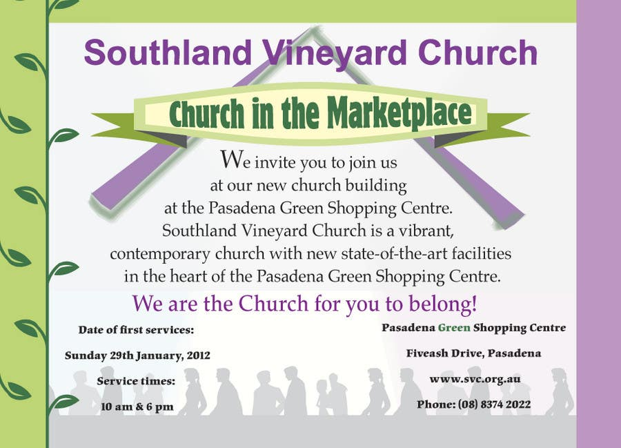 Contest Entry #23 for Flyer Design for Southland Vineyard Church