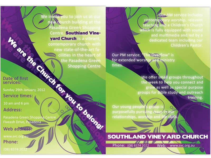 Participación en el concurso Nro.67 para Flyer Design for Southland Vineyard Church