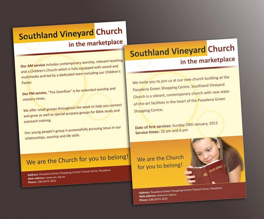 Participación en el concurso Nro.40 para Flyer Design for Southland Vineyard Church