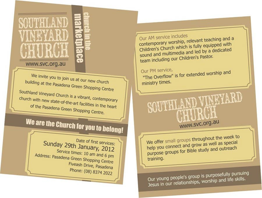 Contest Entry #65 for Flyer Design for Southland Vineyard Church