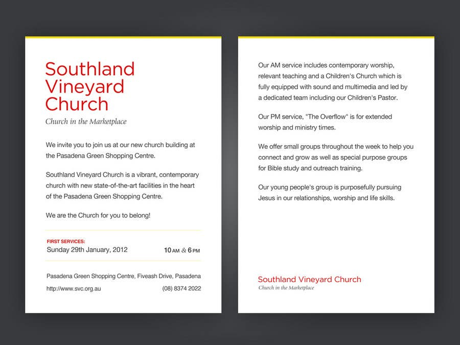 Contest Entry #91 for Flyer Design for Southland Vineyard Church