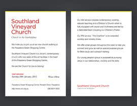 #91 cho Flyer Design for Southland Vineyard Church bởi agatom
