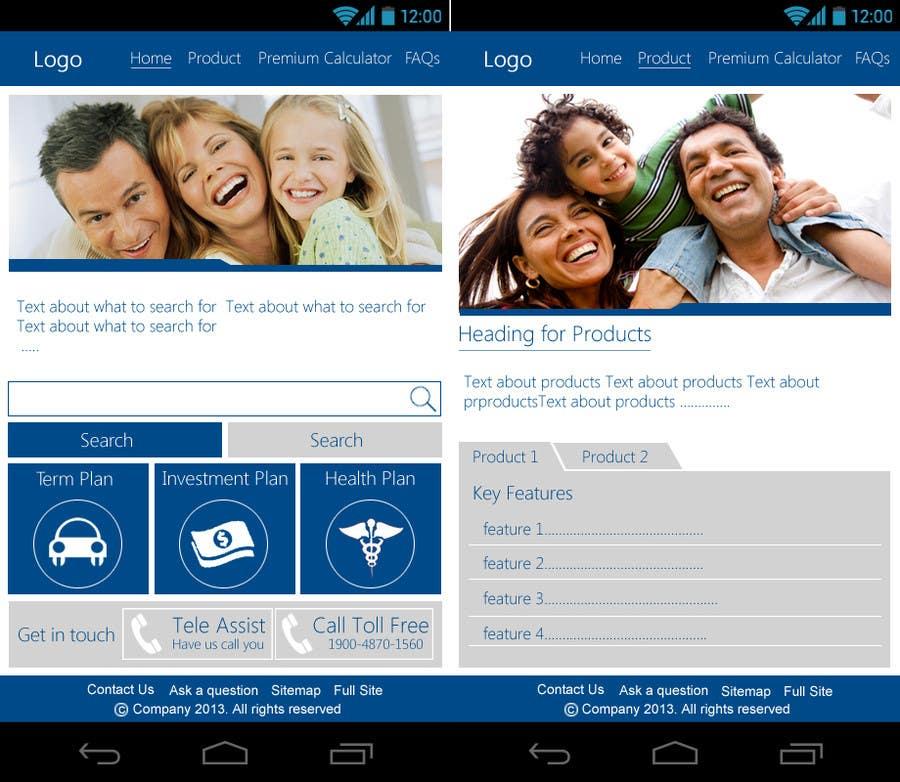 Bài tham dự cuộc thi #                                        16                                      cho                                         Design a Mobile Website Mockup for a multinational insurance company