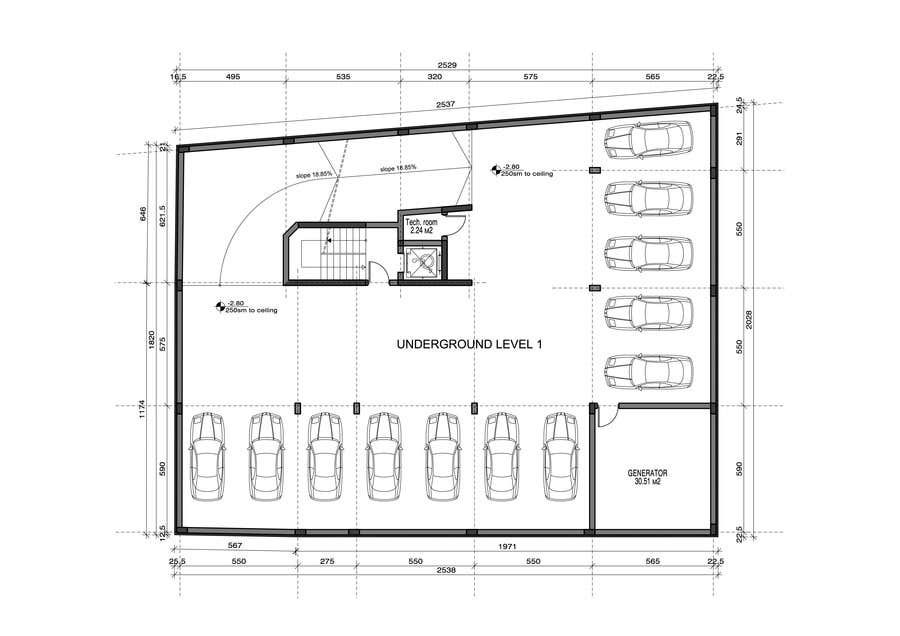 Underground parking garage design on a small plot freelancer for Underground garage plans
