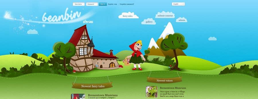 Конкурсная заявка №                                        64                                      для                                         Fairy tales Graphic Design for beanbin
