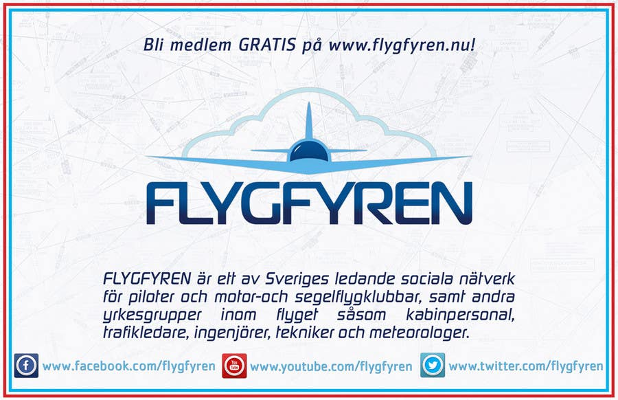 Design a flyer for an aviation social network on the Internet için 11 numaralı Yarışma Girdisi