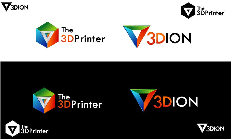Proposition n°70 du concours Design a Logo for 3DION & THE 3D PRINTER
