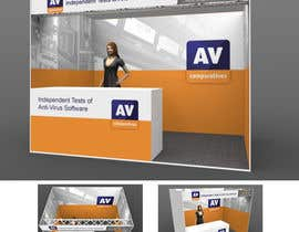 nº 11 pour Exhibition Stand Design (technical fair) Virusbulletin par kiekoomonster