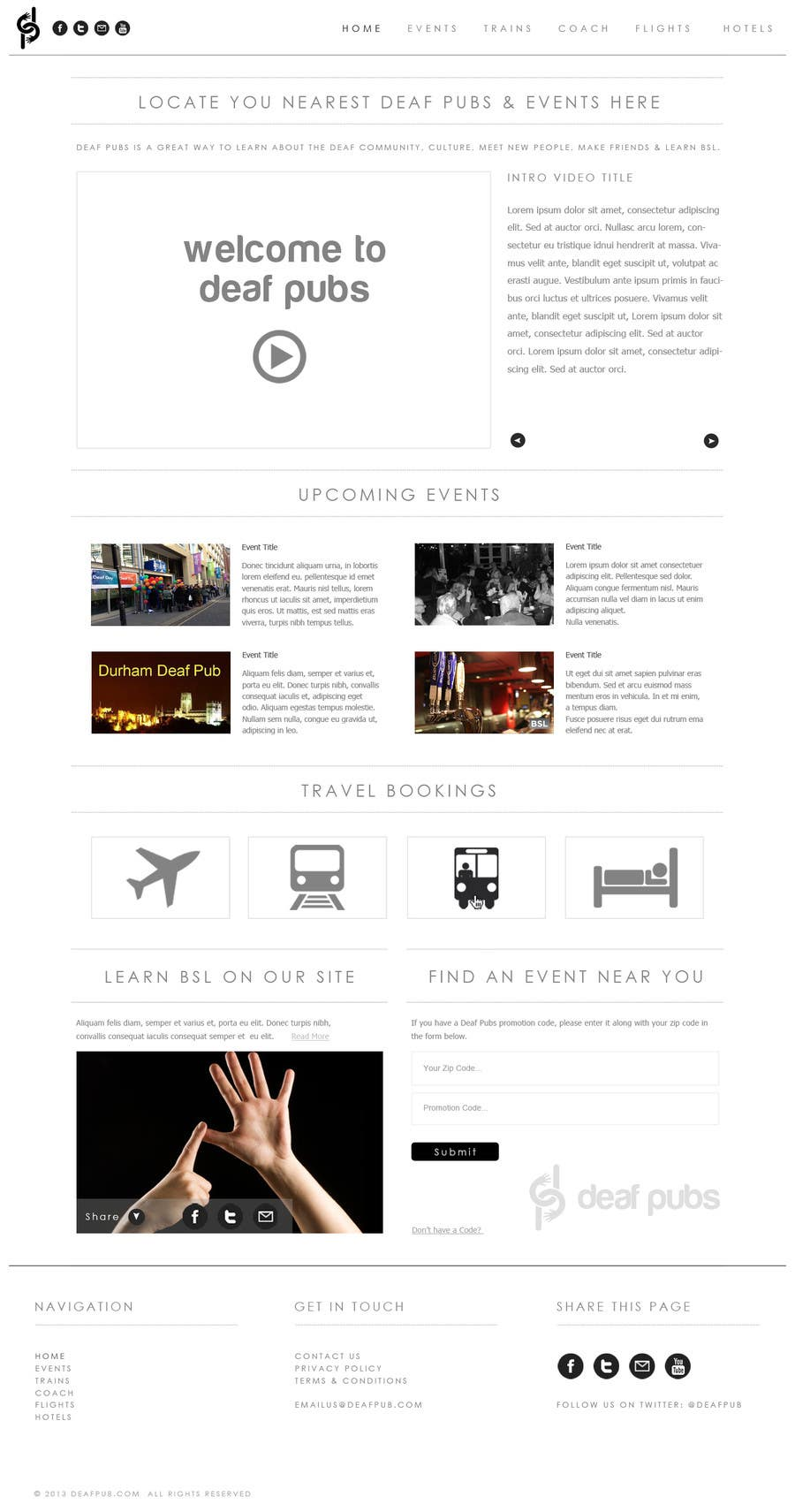 #7 for Design a Website Mockup for Deaf Pubs by JosephNgo