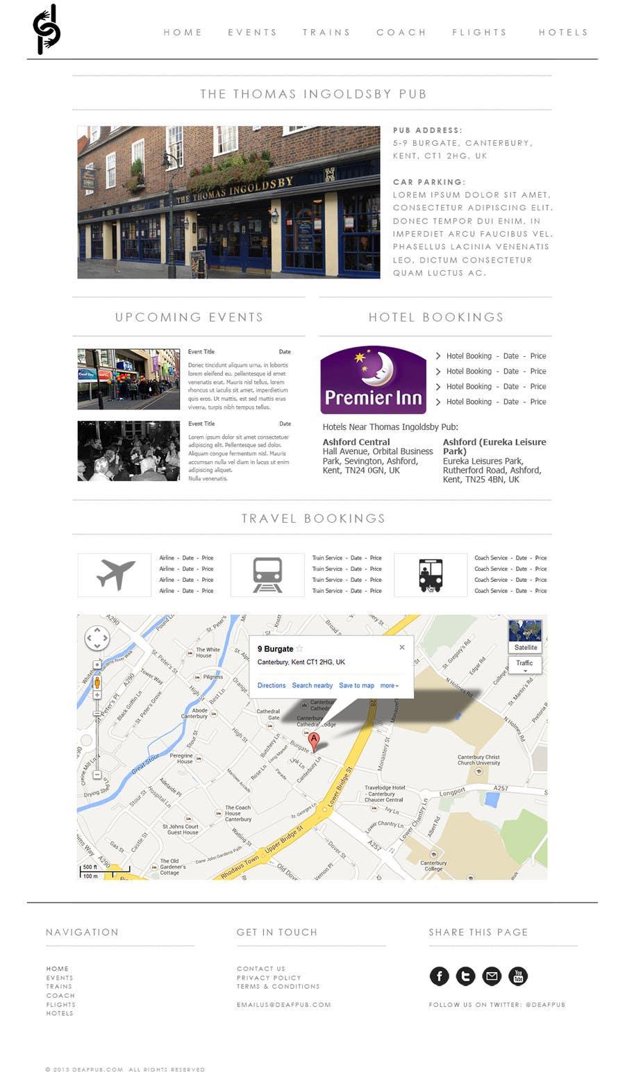 #11 for Design a Website Mockup for Deaf Pubs by JosephNgo