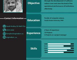 #18 para I need to buy 10 infographic CV template (6 in Arabic Languages, 4 in English) por sarahusf36