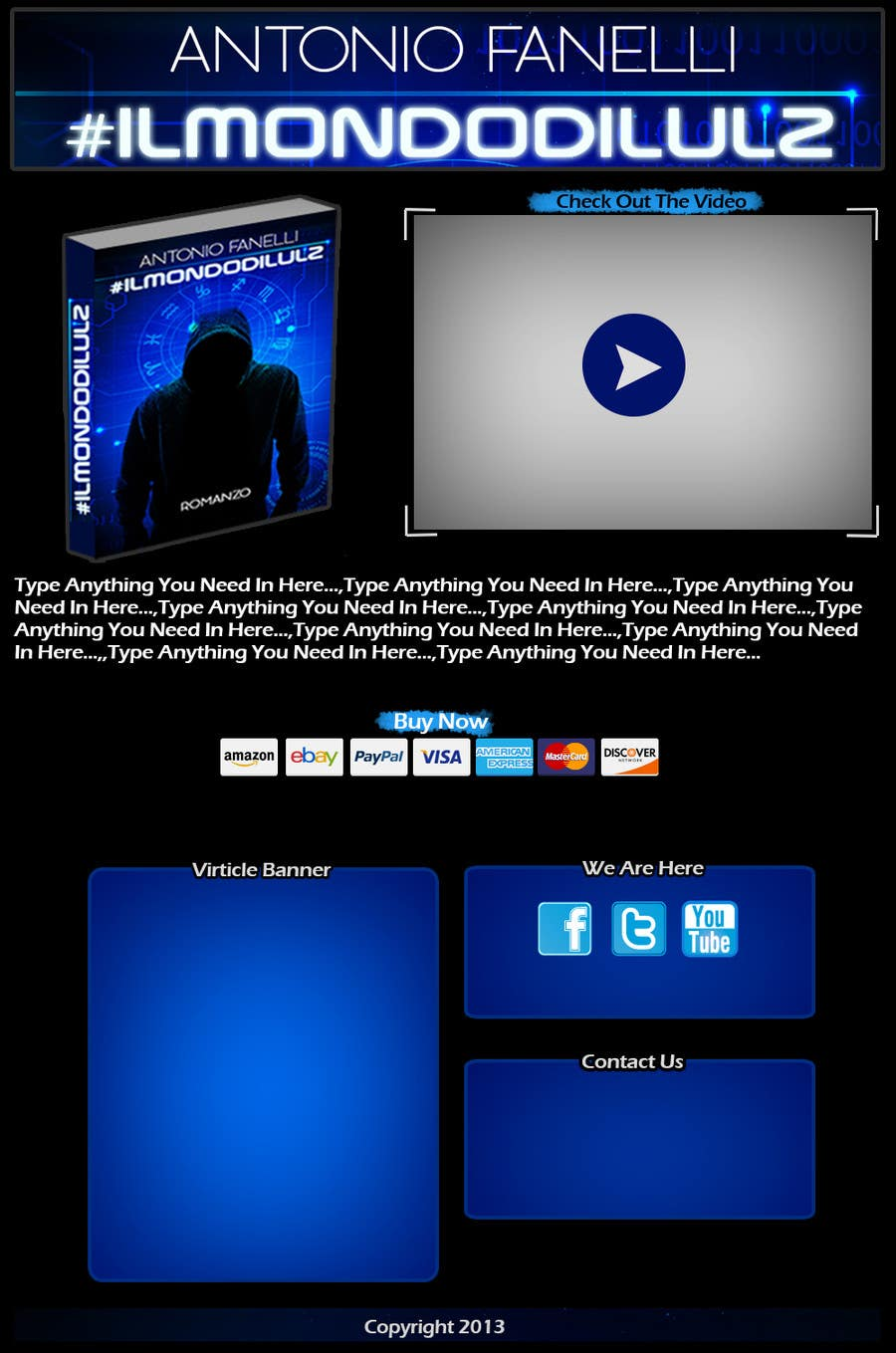 #7 for 1 Page HTML Web site for a book presentation by noeloteam