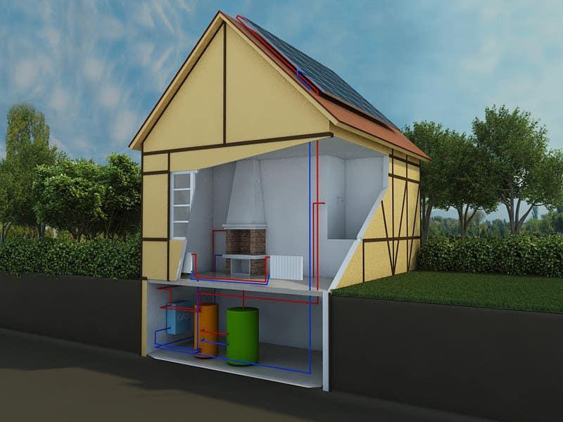 Konkurrenceindlæg #                                        8                                      for                                         Illustration Design of solar heating for www.thomasgregersen.dk