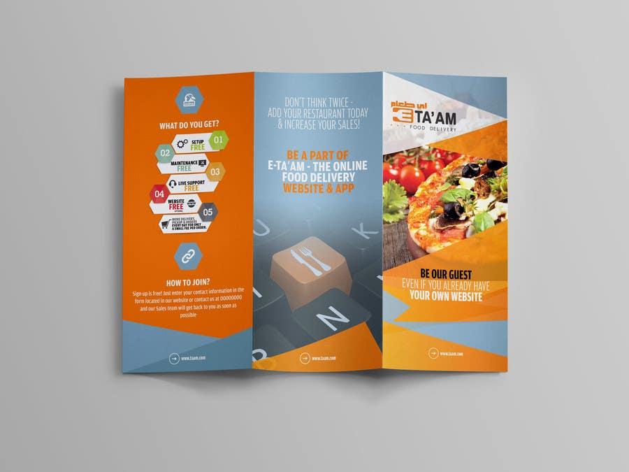 online design brochure - design a brochure for an online food delivery site