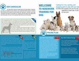 Nro 5 kilpailuun Design a Partnership Brochure for Off Leash K9 Raleigh and Pups Day Out käyttäjältä proxlservice