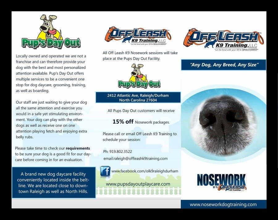 Inscrição nº                                         7                                      do Concurso para                                         Design a Partnership Brochure for Off Leash K9 Raleigh and Pups Day Out