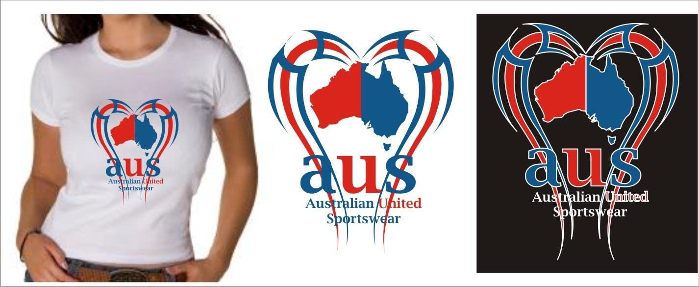 Inscrição nº 39 do Concurso para T-shirt Design for Australian United Sportswear