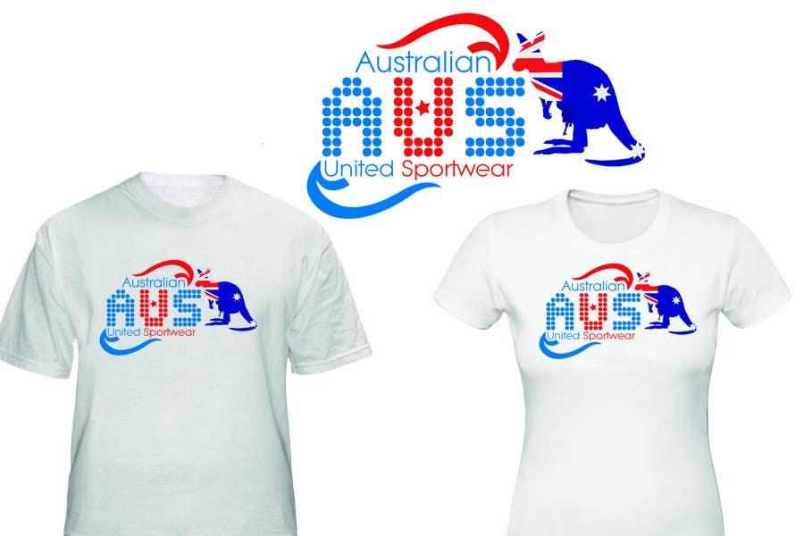 Konkurrenceindlæg #54 for T-shirt Design for Australian United Sportswear