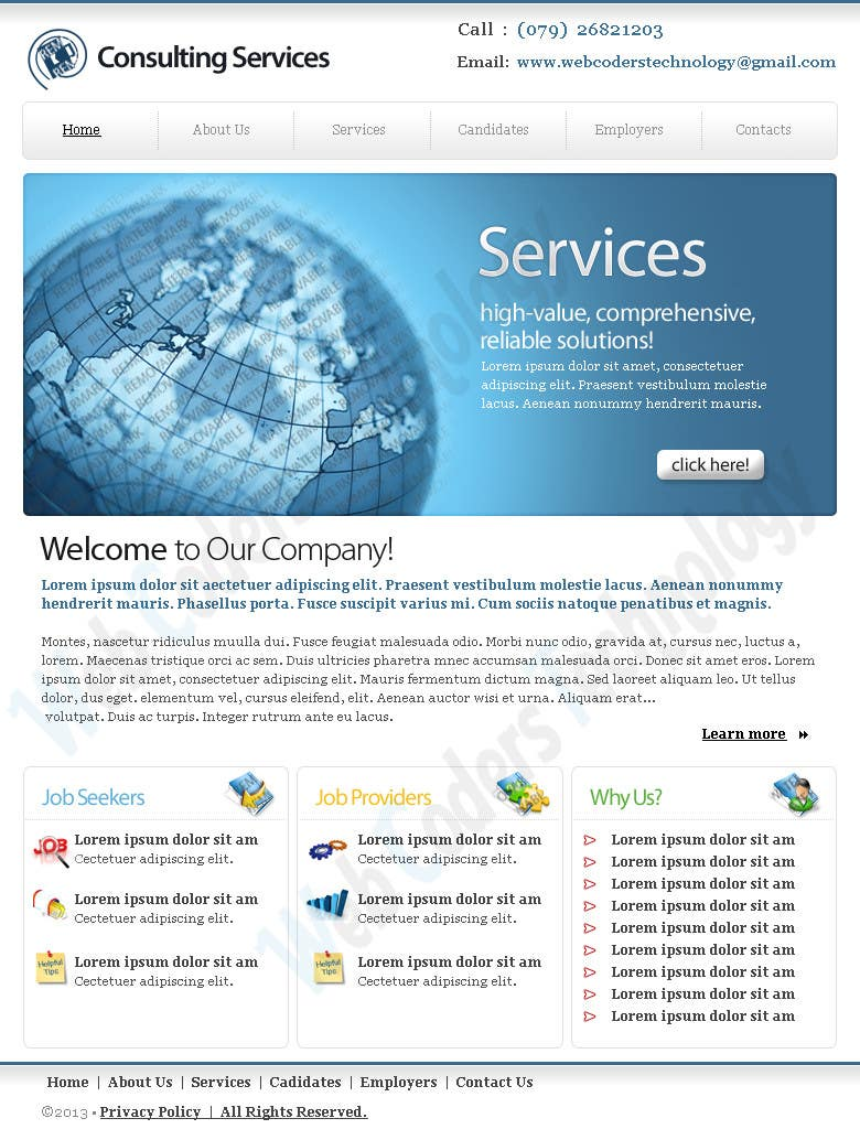 #2 for Design for a Marketing / Consulting website by jemes87