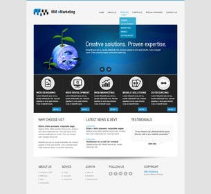 #12 for Design for a Marketing / Consulting website by robertlopezjr