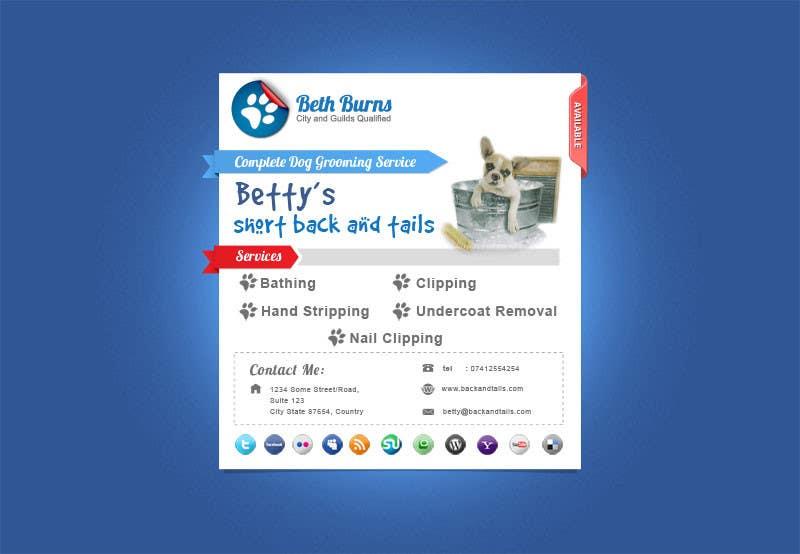 Inscrição nº                                         9                                      do Concurso para                                         Convert a two-sided business card into a single page Website