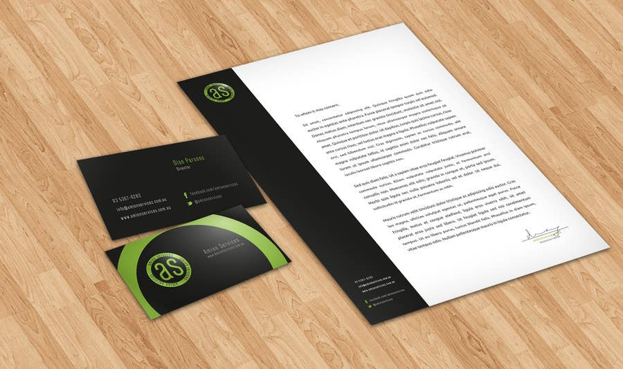 Bài tham dự cuộc thi #                                        1                                      cho                                         Design some Stationery for Amion Services