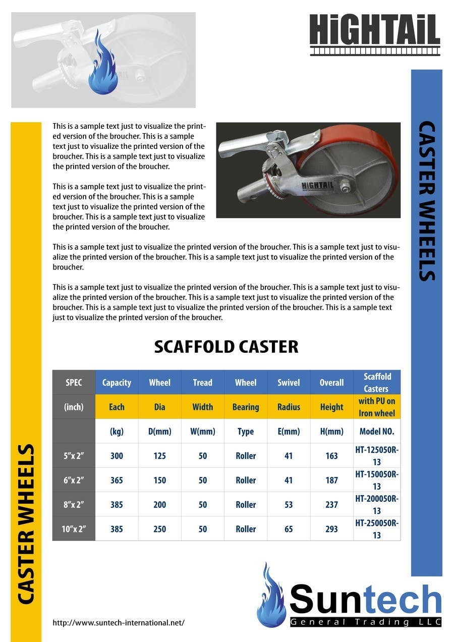 Proposition n°19 du concours Design a Two Page Brochure for HIGHTAIL Ladders & Casters