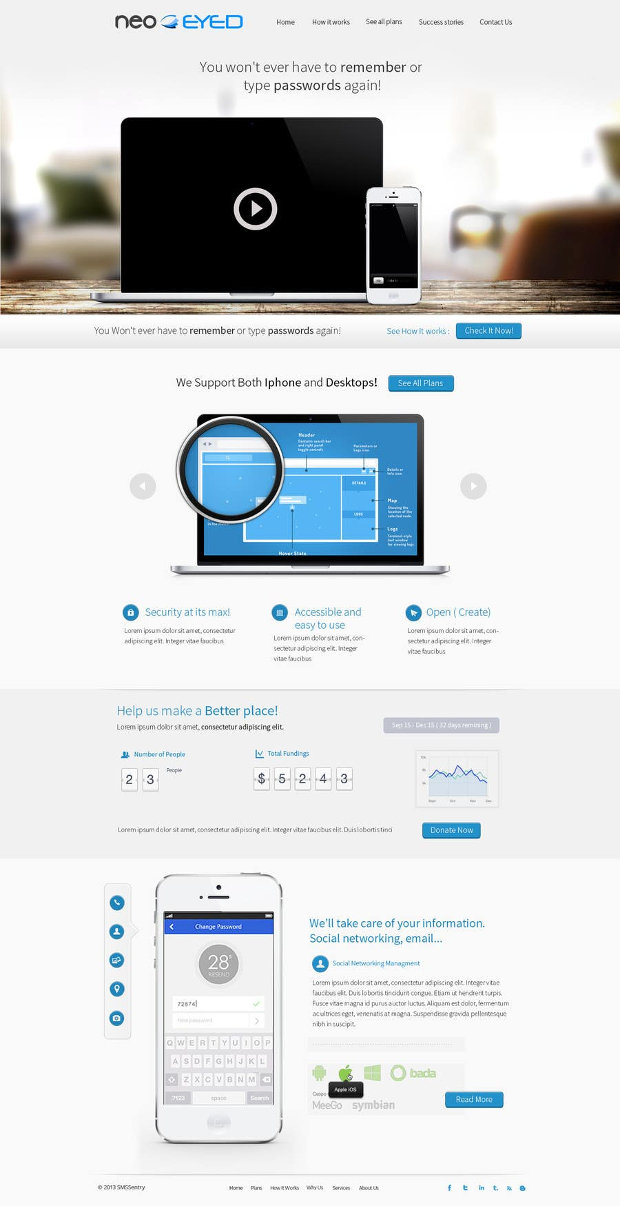 #42 for Create a landing page for neoEYED by Bkreative