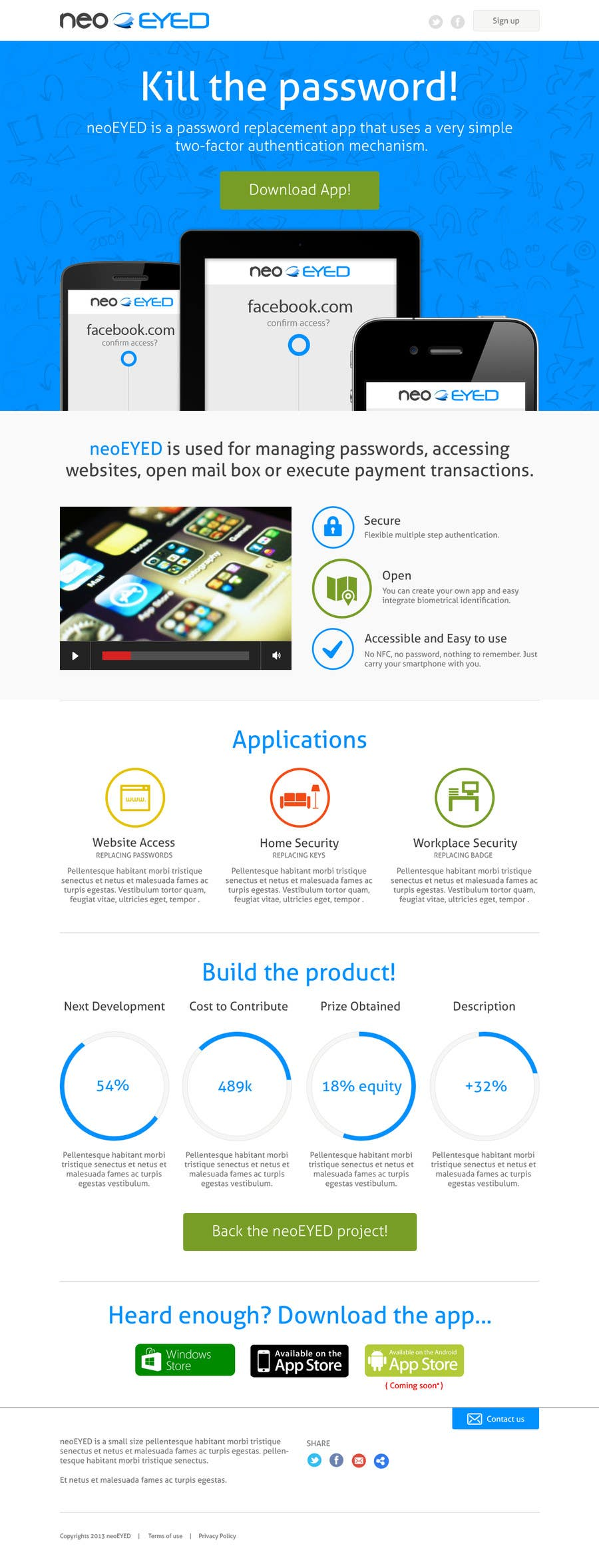 #32 for Create a landing page for neoEYED by dutchez8