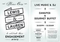 Graphic Design Inscrição do Concurso Nº6 para DESIGN MY ENGAGEMENT PARTY INVITATIONS