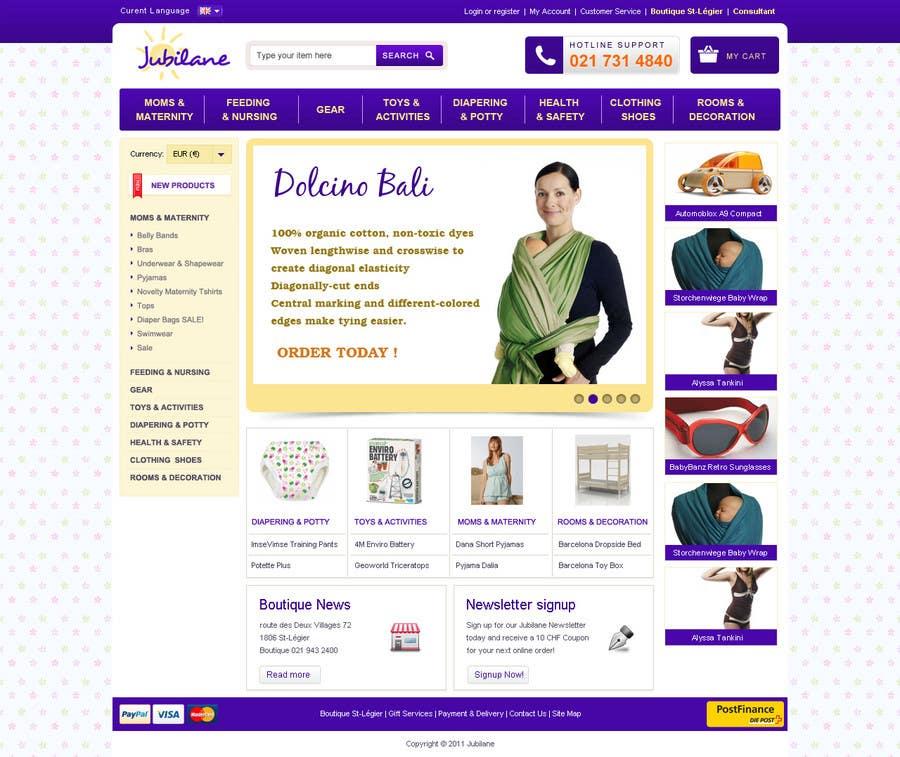 Конкурсная заявка №14 для Custom Oscommerce Template - Jubilane Website Design