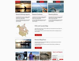 grafixeu tarafından Design a Website Mockup for Sport Fish Junkies için no 21