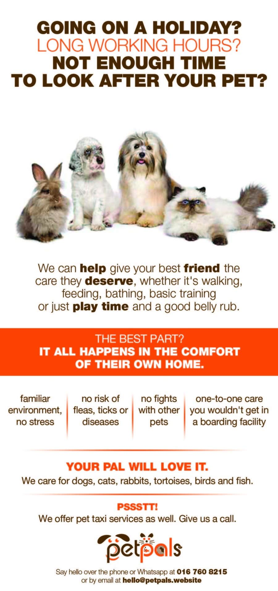 contest entry 24 for design a flyer for a pet sitting business
