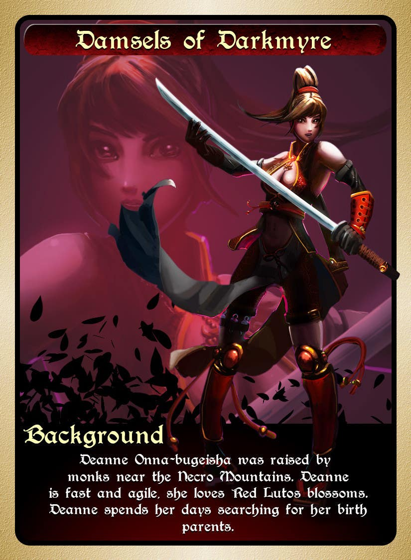 #17 for Re-design this game card front and back. by fishtee