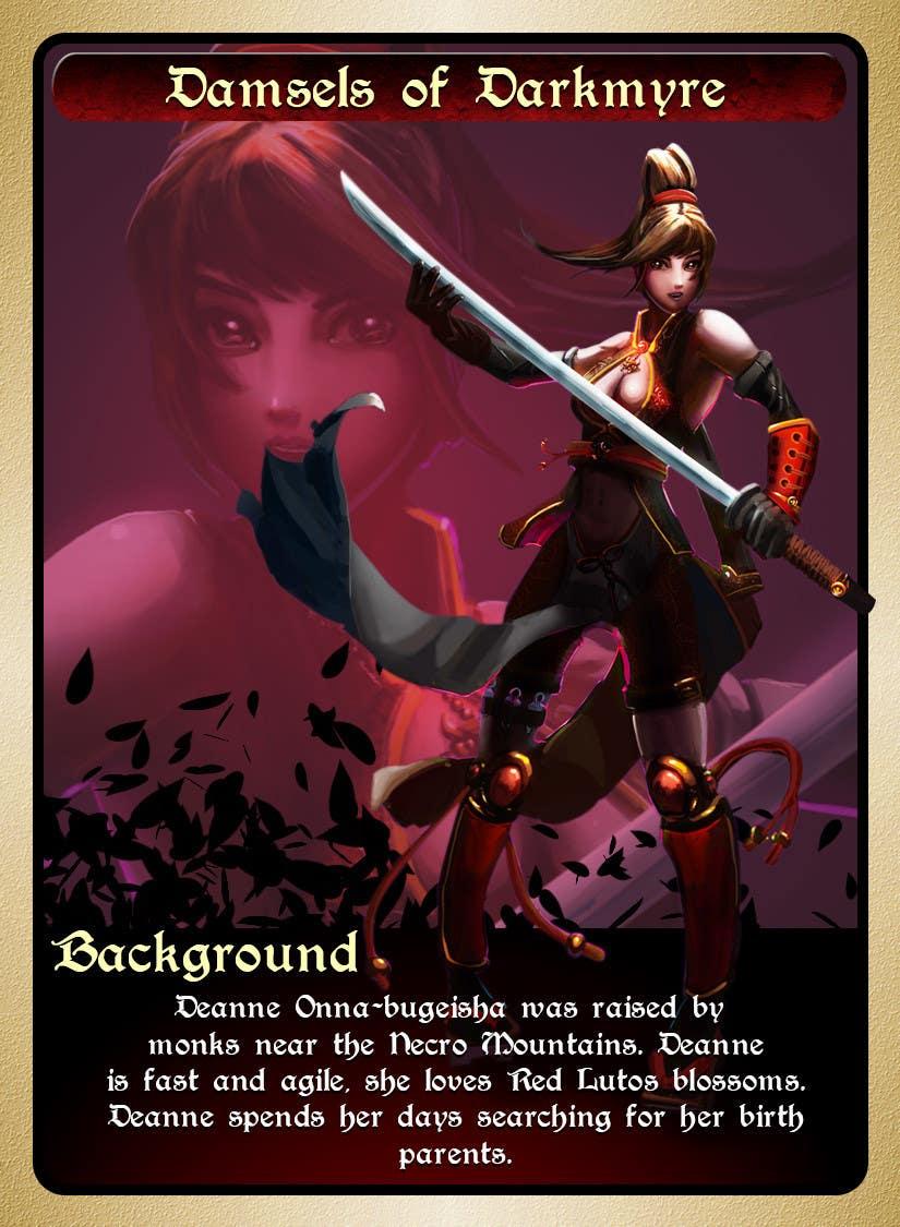 Inscrição nº 17 do Concurso para Re-design this game card front and back.