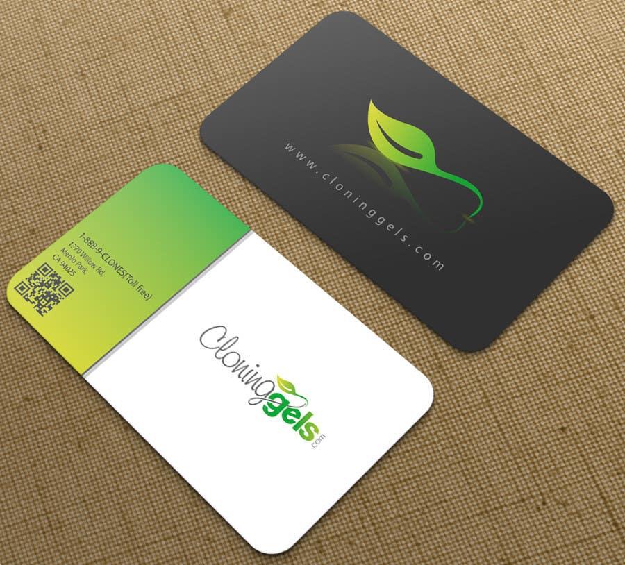 Konkurrenceindlæg #3 for Design a Business Card for CloningGels[dot]com