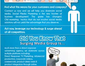 #16 para Design a Flyer for Surging Media Group por blackd51th
