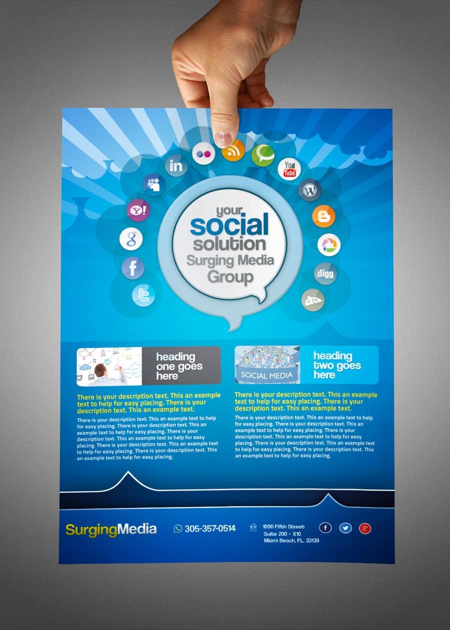 Design a Flyer for Surging Media Group için 4 numaralı Yarışma Girdisi