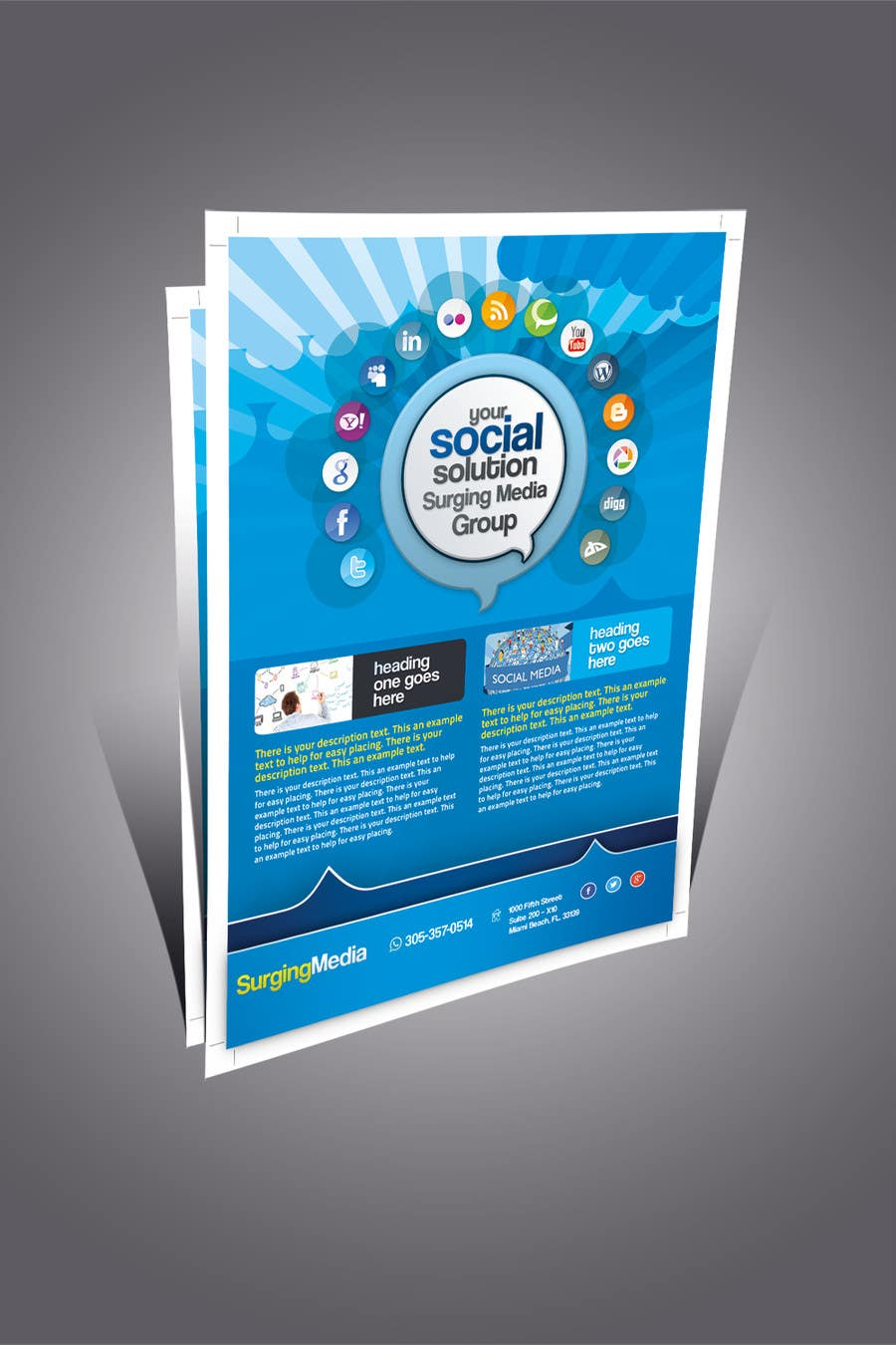 #5 for Design a Flyer for Surging Media Group by abdelaalitou