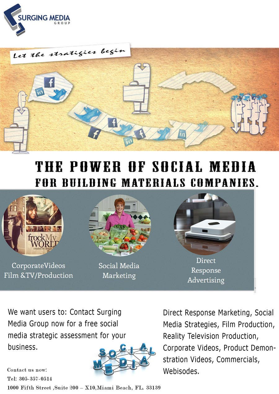 #2 for Design a Flyer for Surging Media Group by ArchitectKareem