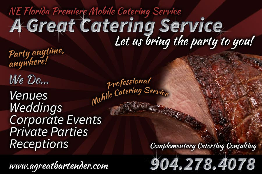 #36 for Design a Flyer for Catering and a Bartending Business - Future Work Needed Also by davidgraeme