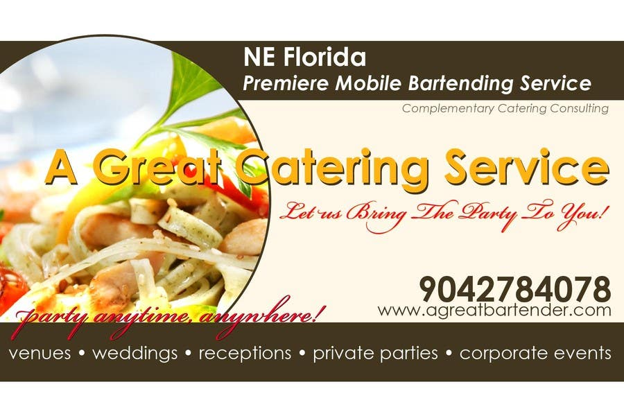 #12 for Design a Flyer for Catering and a Bartending Business - Future Work Needed Also by brianpadua