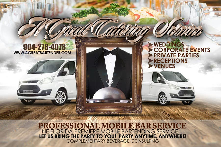 #80 for Design a Flyer for Catering and a Bartending Business - Future Work Needed Also by dsmithphoto