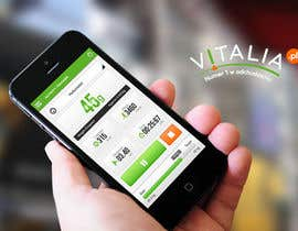 "nº 120 pour Design for mobile app ""Vitalia tracker"" (design only) par JustLogoz"