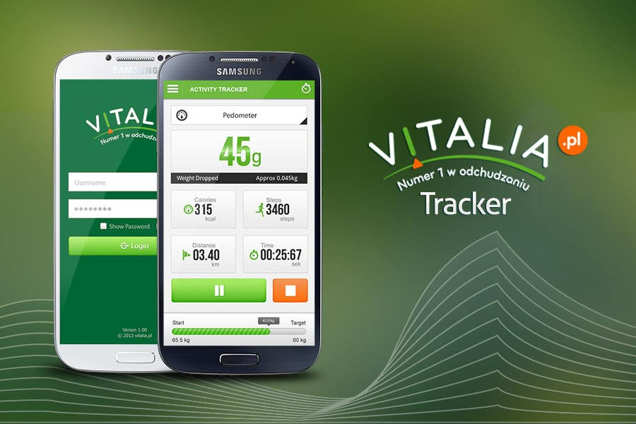 "#122 for Design for mobile app ""Vitalia tracker"" (design only) by JustLogoz"