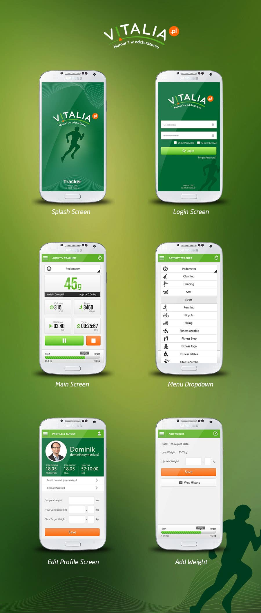 "#150 for Design for mobile app ""Vitalia tracker"" (design only) by JustLogoz"
