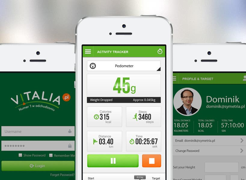 "#157 for Design for mobile app ""Vitalia tracker"" (design only) by JustLogoz"